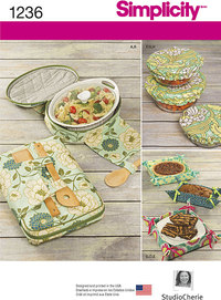 Casserole Carriers, Gifting Baskets and Bowl Covers. Simplicity 1236.