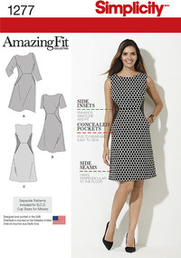 Miss and Plus Amazing Fit Dress. Simplicity 1277.