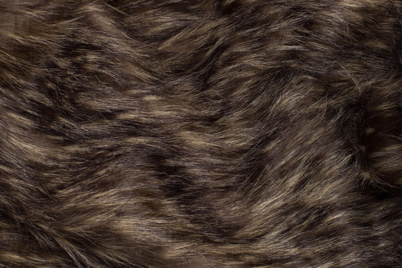 Beautiful, long-haired faux fur in dark wolf-color