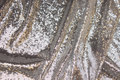 Beautiful silver-sequins-fabric with small, close-fitting, sewn-on mini-sequins