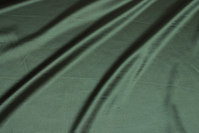 Bottle-green stretch-satin