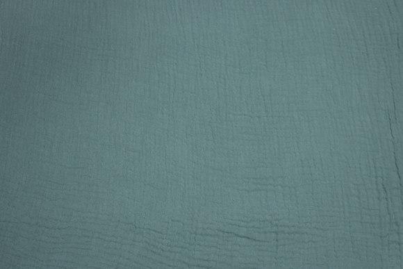 Double woven soft cotton (gauze) dusty-green