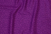 Firm cotton with purple paisley pattern