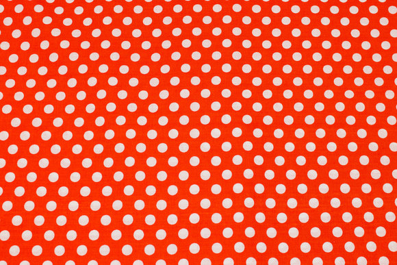 Firm, orange cotton with 9 mm white dot