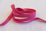 Herringbone woven cotton tape pink 1 cm
