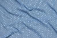 Light blue, lightweight transparent polyester chiffon with flock-dot