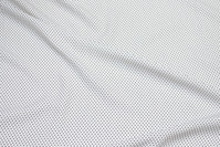 Lightweight white micro-polyester with black mini-dots