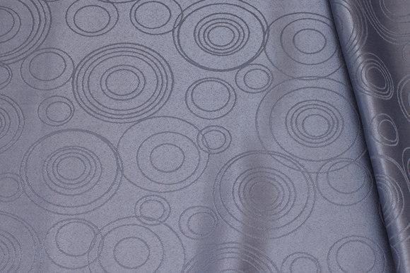Medium-grey polyester-jacquard for table cloths etc.