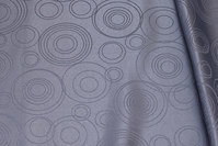 Medium-grey polyester-jacquard for table cloths etc.