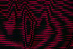 Medium-thickness cotton in black and dark red striped