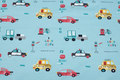 Mint-green cotton-jersey with cars.