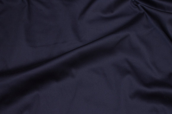 Navy cotton-stretch-satin for pants etc.