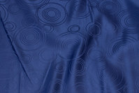 Navy polyester-jacquard for table cloths etc.