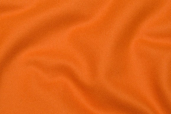 Orange 100% wool in firm quality