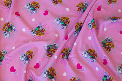 Pink cotton-jersey with paw patrol
