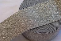 Silver elastic belt 6 cm