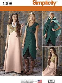 Misses Fantasy Costumes. Simplicity 1008.