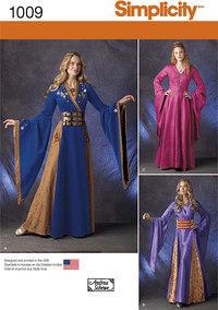 Misses´ Fantasy Costumes. Simplicity 1009.