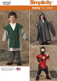 Boys´ Easy To Sew Costumes. Simplicity 1037.