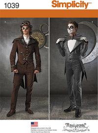 Men´s Cosplay Costumes. Simplicity 1039.