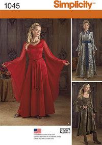 Misses´ Fantasy Costumes. Simplicity 1045.