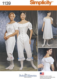 Misses Civil War Undergarments. Simplicity 1139.