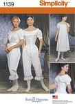Simplicity 1139. Misses Civil War Undergarments.