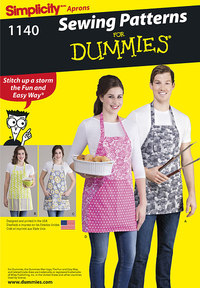 Aprons in Four Styles. Simplicity 1140.