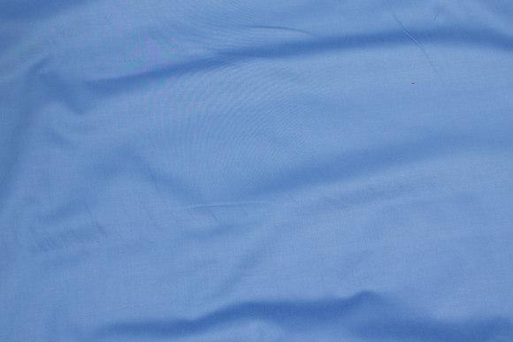 Sky-blue cotton-stretch-satin for pants etc.