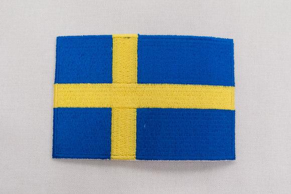 Swedish flag patch 6x9 cm