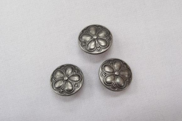 Tin button flower 1.5 cm