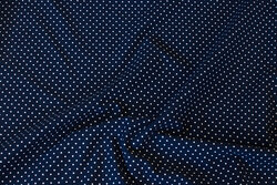 Navy cotton-jersey with white mini-dots