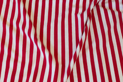 Red and white across-striped cotton-jersey