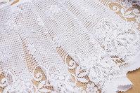 White café drape, 45 cm højt