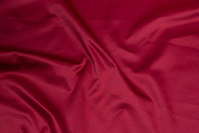 Wine-red cotton and polyester stretch-satin for pants etc.