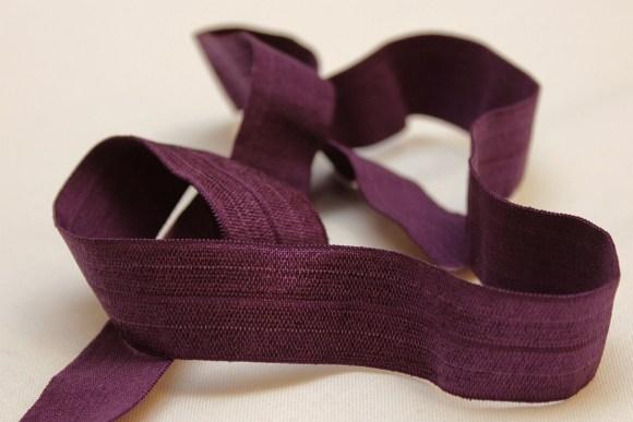 Elastic bias, heather purple