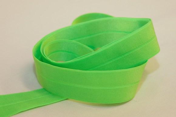 Elastic bias neon green
