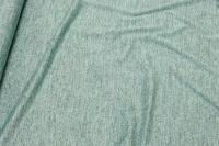 Lightweight, mint-green knit with lurex glitter.