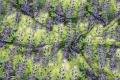 Green cotton-jersey with blue-purple flowers