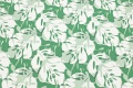 Green cotton-jersey with white philodendron-leaves