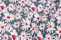 Navy viscose-jersey with daisies