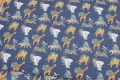 Navy cotton-jersey with Africa-animals.