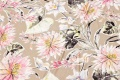 Light sand-colored viscose-jersey with pastel flowers