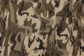 Camouflage cotton-jersey in dark army-colors