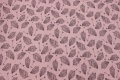 Light grey cotton-jersey with pink glitter-butterflies