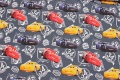 Dusty navy cotton-jersey with cars
