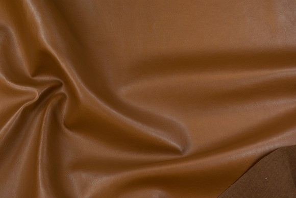 Faux hide in chocolate brown