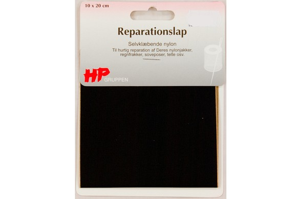 Black nylon repair patch 10 x 20 cm
