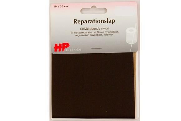 Brown nylon repair patch 10 x 20 cm