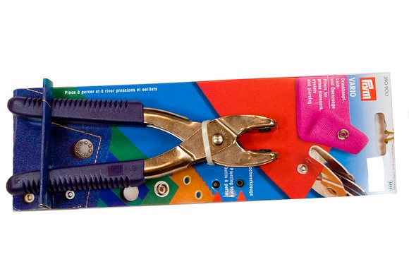 Pliers for press fasteners, eyelets and piercing